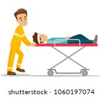 caucasian white emergency... | Shutterstock .eps vector #1060197074