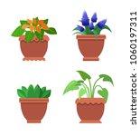 pseuderanthemum and muscari ... | Shutterstock .eps vector #1060197311