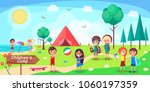 children's camp poster... | Shutterstock .eps vector #1060197359