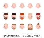male heads with various... | Shutterstock .eps vector #1060197464