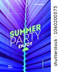 poster for summer and beach... | Shutterstock .eps vector #1060200575
