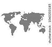 dotted world map. vector... | Shutterstock .eps vector #1060203185