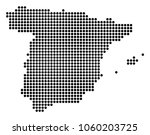 dotted spain map. vector mosaic ... | Shutterstock .eps vector #1060203725