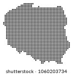 dotted poland map. vector... | Shutterstock .eps vector #1060203734
