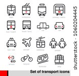 a set of transportation icons... | Shutterstock .eps vector #1060204445