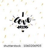 i love you. romantic quote.... | Shutterstock .eps vector #1060206905