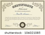 certificate of success | Shutterstock .eps vector #106021085