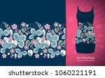 strawberry horizontal seamless... | Shutterstock .eps vector #1060221191