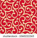 flower pattern. seamless red... | Shutterstock .eps vector #1060222265