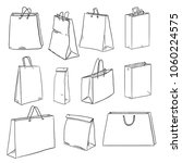 vector set of sketch shopping... | Shutterstock .eps vector #1060224575