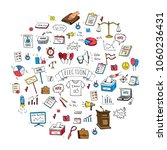 hand drawn doodle vote icons... | Shutterstock .eps vector #1060236431