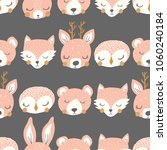 vector sleepy animal stripe... | Shutterstock .eps vector #1060240184