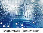 blue microchip texture as very... | Shutterstock . vector #1060241804