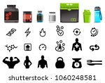 protein nutrients products that ... | Shutterstock .eps vector #1060248581