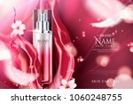 spray essence ads  red gradient ... | Shutterstock .eps vector #1060248755