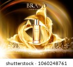 golden essence ads  glass... | Shutterstock .eps vector #1060248761
