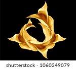 golden flying satin  dynamic... | Shutterstock .eps vector #1060249079