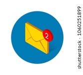 new message 3d isometric vector ... | Shutterstock .eps vector #1060251899