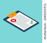 medical checklist health check...   Shutterstock .eps vector #1060251911
