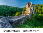 Small photo of Burg Eltz castle in Rhineland-Palatinate state, Germany. Construction started prior to 1157.
