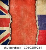 great britain and russian torn... | Shutterstock . vector #1060259264
