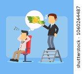 businessman taking money from... | Shutterstock .eps vector #1060264487