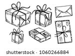 letters  parcels  mail boxes.... | Shutterstock .eps vector #1060266884