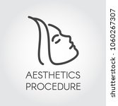aesthetic procedure line icon.... | Shutterstock .eps vector #1060267307
