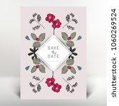 botanical greeting invitation...   Shutterstock .eps vector #1060269524
