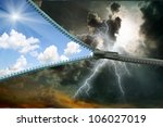 zipper for the sky | Shutterstock . vector #106027019