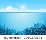 underwater background with... | Shutterstock .eps vector #1060273871