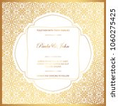 stylish gold and white wedding...   Shutterstock .eps vector #1060275425