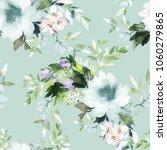 seamless summer pattern with... | Shutterstock . vector #1060279865