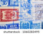 Antique spanish stamps with...