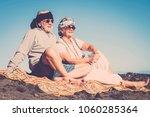 couple of senior caucasian... | Shutterstock . vector #1060285364