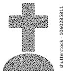 cemetery composition of dots in ...   Shutterstock .eps vector #1060285811