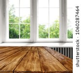 table background and window... | Shutterstock . vector #1060287464