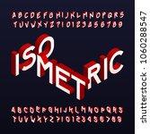 isometric alphabet font. three... | Shutterstock .eps vector #1060288547