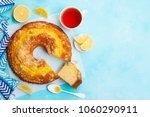 lemon bundt cake with cup of... | Shutterstock . vector #1060290911