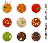soup in dish top view. food...   Shutterstock .eps vector #1060292555