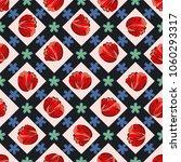 seamless retro 1940s pattern in ... | Shutterstock . vector #1060293317