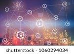 4.0 advanced industrial concept ...   Shutterstock . vector #1060294034