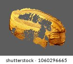 realistic hand drawing golden... | Shutterstock .eps vector #1060296665
