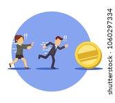 businessman and businesswoman... | Shutterstock .eps vector #1060297334
