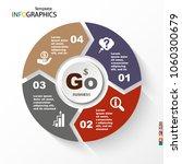 infographic  geometric graph ... | Shutterstock .eps vector #1060300679