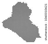 dotted iraq map. raster pattern ... | Shutterstock . vector #1060310621