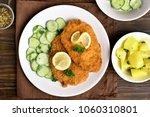homemade schnitzel with...   Shutterstock . vector #1060310801