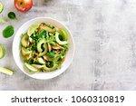 vegetable fruit salad with...   Shutterstock . vector #1060310819