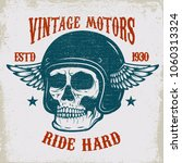 vintage motors. ride hard.... | Shutterstock .eps vector #1060313324