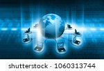 global computer network and...   Shutterstock . vector #1060313744
